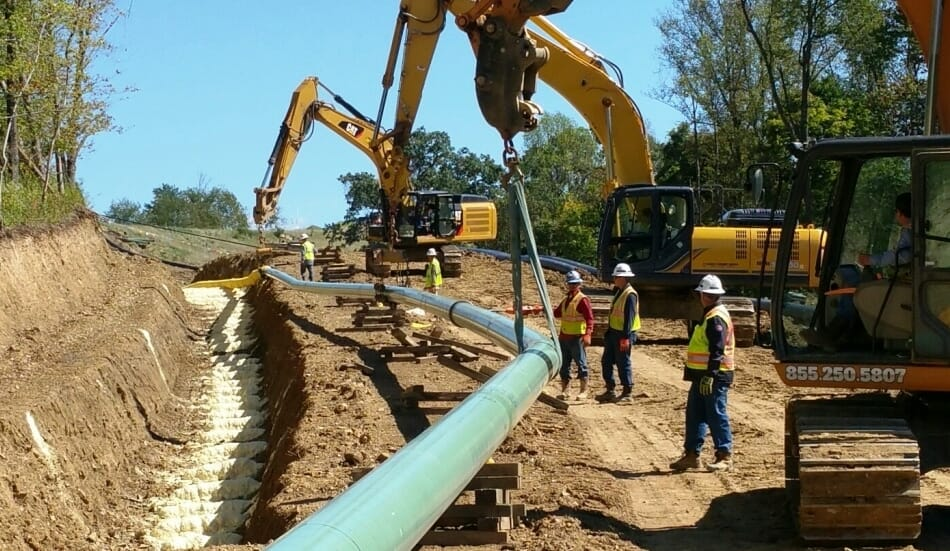 What are the Pipeline Easement Rates in Texas?